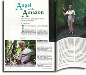 """Angel of the Amazon"" opera by Evan Mack, produced by Encompass New Opera Theatre, New York"